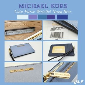 MICHAEL KORS Coin Purse Wristlet (Navy Blue)